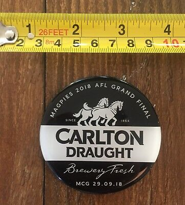 Carlton Draught Magnetic Barmans Decal Collingwood AFL Grand Final 2018