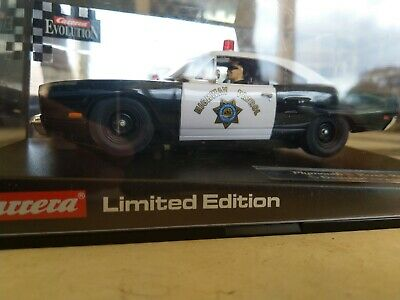 $1NR Carrera Plymouth Road Runner 2004 Highway Patrol 25787   Rare   Scalextric
