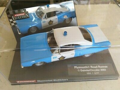 $1NR Carrera Plymouth Road Runner 2004 Highway Patrol 25781   Rare   Scalextric