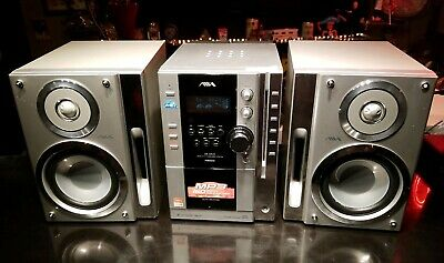 AIWA desktop 5 disc CD changer stereo CX-LMN5 tested & sounds great! Well made