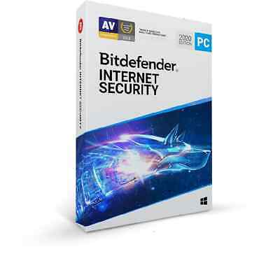 Bitdefender Internet Security 2020 for Windows - 1 User 2 Year - Fast Delivery