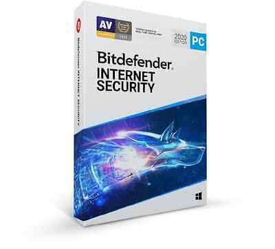 Bitdefender Internet Security 2020 for Windows - 1 User 3 Year Account - No Key