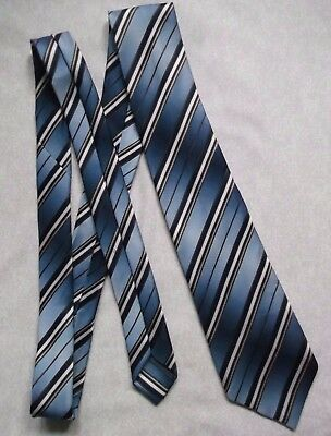 Vintage Tie MENS Necktie Retro ST MICHAEL BLUE STRIPED