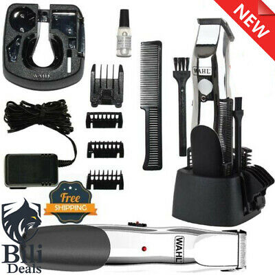 WAHL Hair Beard & Stubble Trimmer Clipper Shaver Razor Set Cordless Grooming NEW