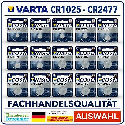 VARTA Knopfzellen High-Tech Lithium CR2032 l CR2016 l CR2025 l Bulk l Blister !
