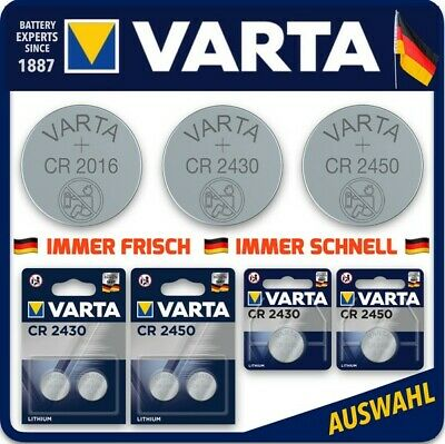 VARTA Knopfzellen High-Tech Lithium CR2450 l CR2430 l CR 2016 l Blister l Bulk!