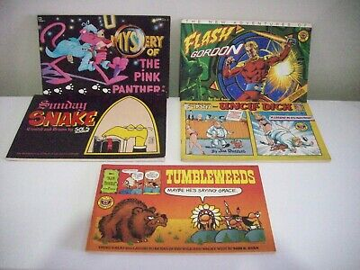 Comic Books Inc The Potts And Uncle Dick, Pink Panther,Flash Gordon,Tumbleweeds