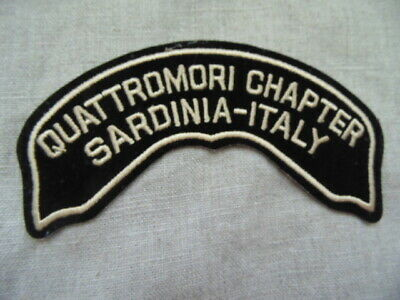 Harley-Davidson Patch Collector Hog Quattromori Chapter Sardinia Italy