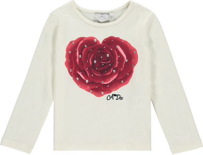 Ariana Dee Tyla Heart Rose Top W194406