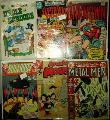 Comics Old 38 Bulk Lot DC Superman Plop Casper Richie Inferior Five Assorted
