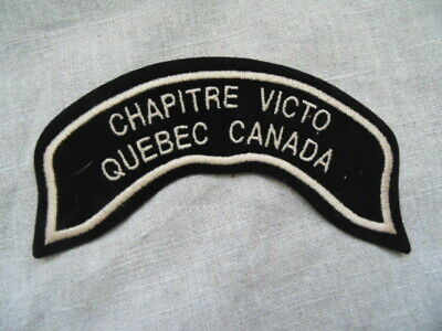 Harley-Davidson Patch Collector Hog Chapitre Victo Quebec Canada