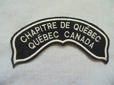 Harley-Davidson Patch Collector Hog Chapitre De Quebec Canada