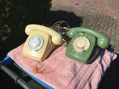 X2 Dial face telephones PMG  1980s 800 series