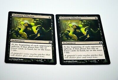 SHRIEKING AFFLICTION NM mtg Return to Ravnica Black Enchantment Unc