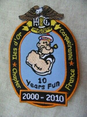 Harley Davidson Patch Collector Hog Iles D'or Carqueiranne Chapter France 2010