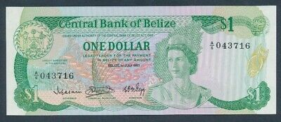 "Belize: 1-7-1983 $1 QEII ""SCARCE 1-YEAR TYPE"". Pick 43 UNC Cat $67"