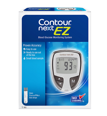 Contour Next EZ Glucose Monitoring System  and 10 Test Strips