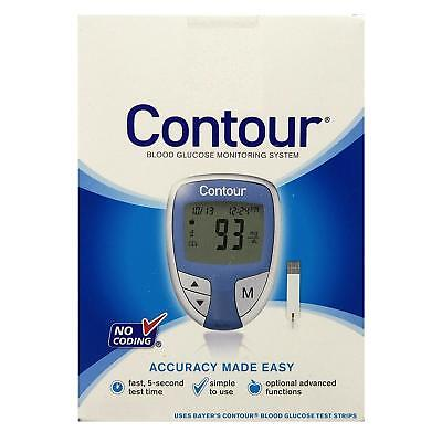 Contour Blood Glucose Monitoring System No Coding Blue Color