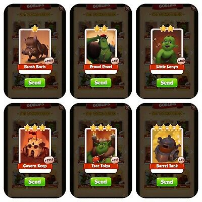 Coin master GOBLINS 6 cards pack.