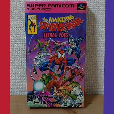 Epoch Super Famicom The Amazing Spiderman Lethal Foes F/S SNES Used Japan (HYAO)