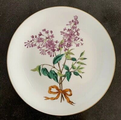 Antique Mintons Aesthetic Movement Porcelain Botanical Cabinet Plate 1870s 1880s