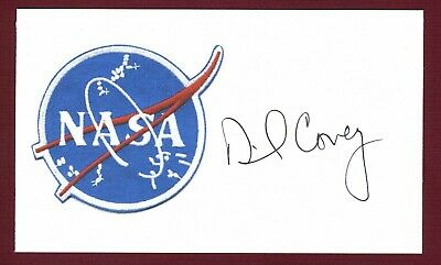 Richard Covey NASA American Space Astronaut Signed 3x5 Index Card C16122