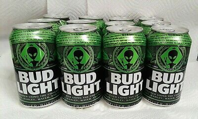 Bud Light Area 51 Alien cans LIMITED RELEASE cans Box included