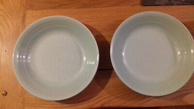 "40s Vintage Woods Ware Green Beryl 7.5"" dishes x 2"