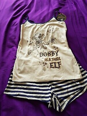 DOBBY OFFICIAL HARRY POTTER  Pyjamas Ladies Women's Girls Shorts Set Size 10-12