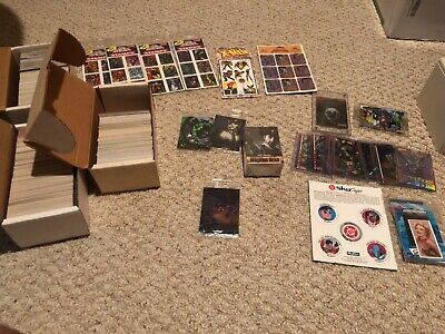 Huge non-sport trading cards, stamps, posters and more!  Marvel, DC and Wizard!