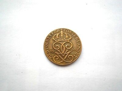 EARLY- HARD TO FIND 1 ORE COIN FROM SWEDEN-DATED 1930-high grade