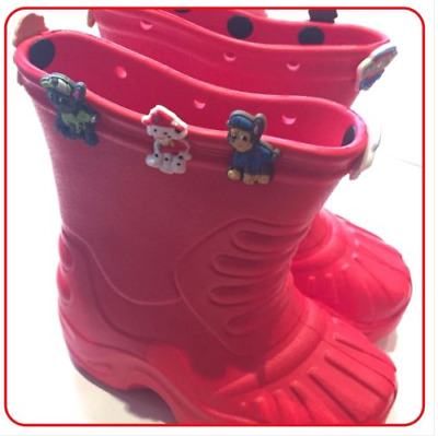 UK store! Kids Wellies with charms sizes 7.5, 8.5, 9,10,11,12,12.5,13, 1,2, 3