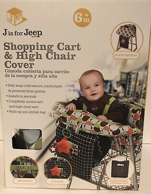 Jeep 2-in-1 Baby Shopping Cart High Chair Cover Cushion Toddler Seat Safety