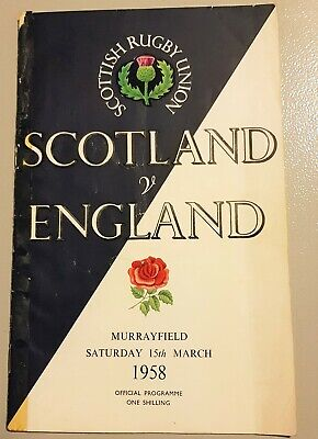 Scottish Rugby Union: Scotland V England Murrayfield 1958 Official Programme