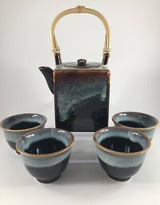Teavana Tea Set Teavana Stoneware Tea Set Teapot Tea Cups