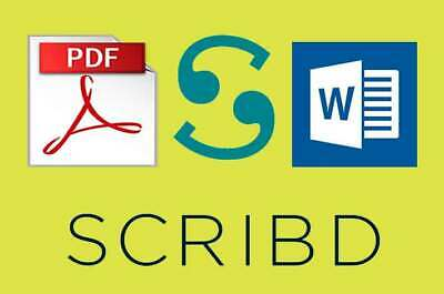 Scribd Account 1 Year 100% Warranty - Instant Delivery  NOW