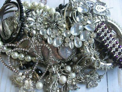 Vintage Now Large Estate Junk Drawer Jewelry Lot Unsearched All Wearable Lbs.