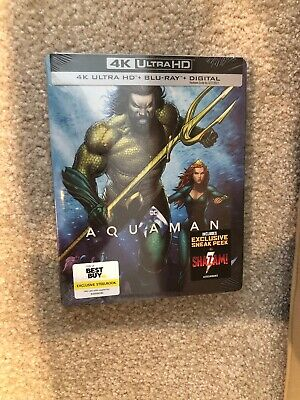 Aquaman (4K Ultra HD+Blu-ray+Digital) Brand New - Bestbuy Exclusive Steel Book