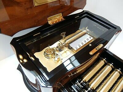 Vintage Reuge 15 Song Interchangeable Cylinder Music Box Dolce Vita (Video)