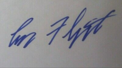 Larry Flynt Signed 4X6 Card Autograph.  HUSTLER MAGAZINE.  LIFETIME COA.