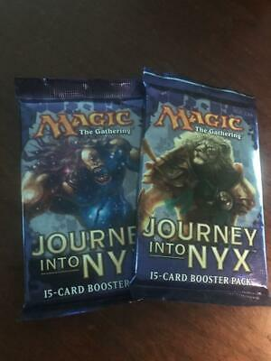 Journey into NYX Booster Pack Lot of 2 Sealed Packs Magic the Gathering MTG