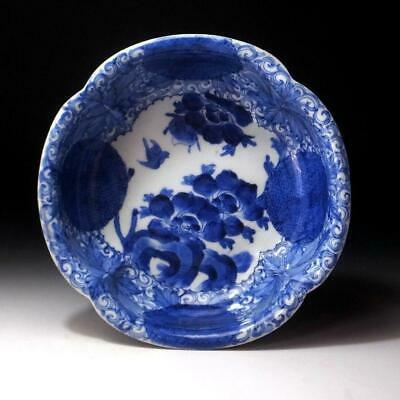 ON19 Antique Japanese Hand-painted Old Imari Bowl, 19C, Dia. 9.8 inches
