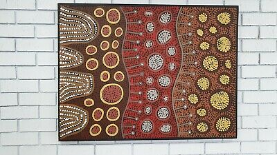 Aboriginal Art X-Large 111x84cm My Country by Raelene Stevens with Certificate