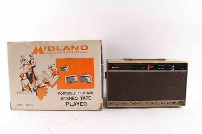 Vintage Midland Portable Stereo 8 Track Player & Box