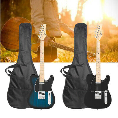 """Glarry 39"""" Maple Fingerboard Electric Guitar Classic Bag Strap Cable Beginner US"""