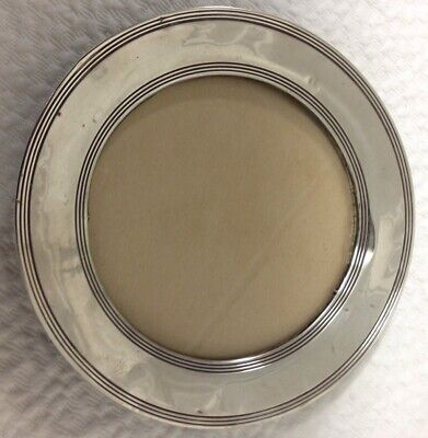 Antique Sterling Silver Round Photo Frame- Charles S Green, Birmingham 1911