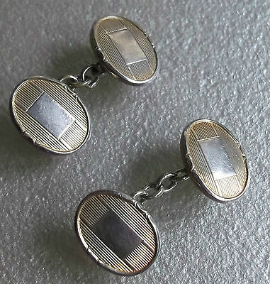 Cufflinks Vintage Mens Cuff Links TRADITIONAL 1960s 1970s OVAL