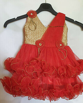 Beautiful girls party dress age up to 1 Immaculate condition. Only worn once