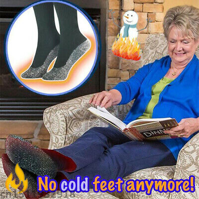 Aluminized Insulation Fibers Heat Socks Keep Feet Warm Dry Gift Christmas 1Pair