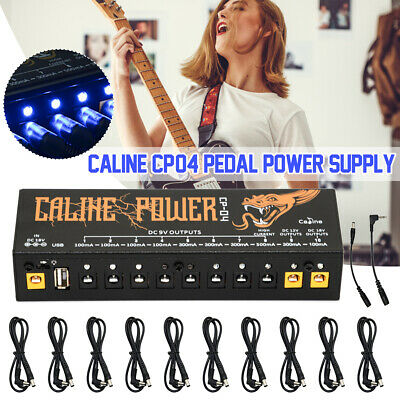 Caline CP-04 Guitar Pedal Power Supply 10 Isolated Output Power Protection Power